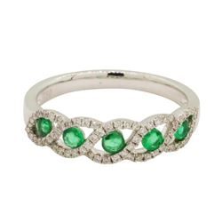 0.3 ctw Emerald Ring - 18KT White Gold
