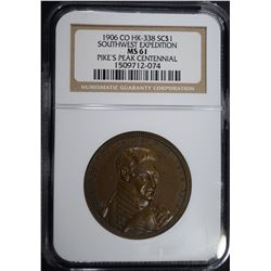 1906 CO HK-338 SO CALLED DOLLAR, NGC MS-61