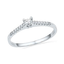 0.13 CTW Diamond Solitaire Bridal Ring 10KT White Gold - REF-14K9W