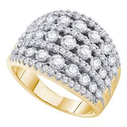 2 CTW Diamond Symmetrical Fashion Ring 14KT Yellow Gold - REF-194H9M