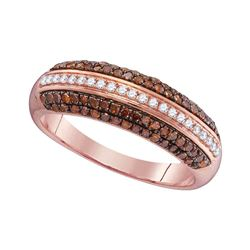 0.50 CTW Red Color Diamond Ring 10KT Rose Gold - REF-26M3H