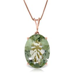 Genuine 7.55 ctw Green Amethyst Necklace Jewelry 14KT Rose Gold - REF-35N9R