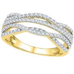 0.33 CTW Diamond Woven Ring 10KT Yellow Gold - REF-26F9N