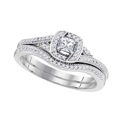 0.33 CTW Princess Diamond Bridal Engagement Ring 10KT White Gold - REF-43Y4X