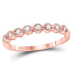 0.10 CTW Diamond Stackable Ring 10KT Rose Gold - REF-12K8W