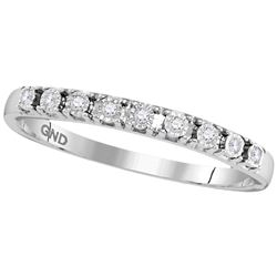 0.06 CTW Diamond Illusion-set Ring 10KT White Gold - REF-10M5H