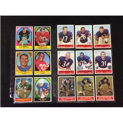 1960'S FOOTBALL TRADING CARDS LOT
