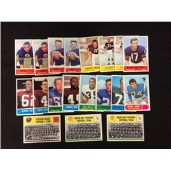 1964 PHILADELPHIA FOOTBALL TRADING CARDS LOT