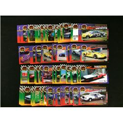 CAR RACING TRADING CARDS LOT