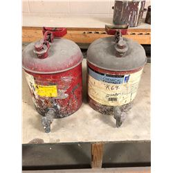 Lot of 2 Solvent Containers