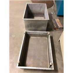 "Steel Totes for Parts Washing 38""x28""x22"""