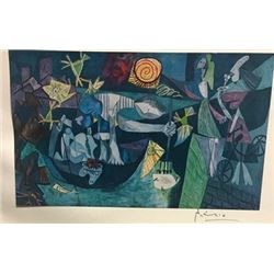 Night Fishing at Antibes - Pablo Picasso Lithograph