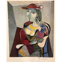 Seated Woman Marie Therese - Pablo Picasso Lithograph