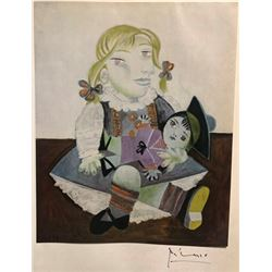 Maya with Doll - Pablo Picasso Lithograph