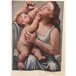 Mother And Child - Pablo Picasso Lithograph