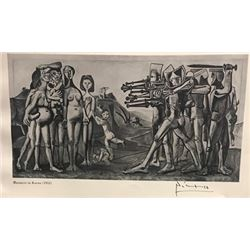 Massacre in Korea - Pablo Picasso Lithograph