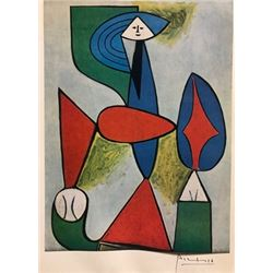 Seated Woman - Pablo Picasso Lithograph