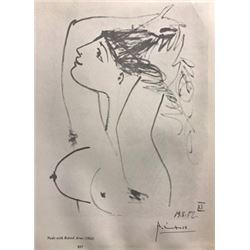Nude with Raised Arms - Pablo Picasso Lithograph