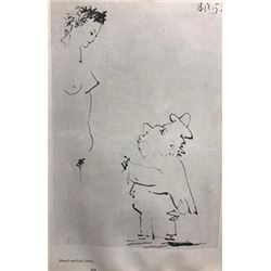 Dwarf and Girl - Pablo Picasso Lithograph