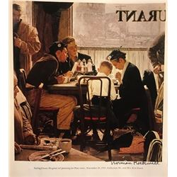 The Magic Football - Norman Rockwell Lithograph
