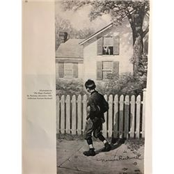 Gramercy Park - Norman Rockwell Lithograph