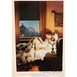 Looking Out to Sea - Norman Rockwell Lithograph