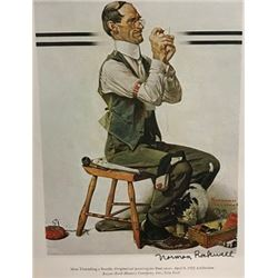 Elect Casey - Norman Rockwell Lithograph
