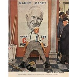 Barbershop - Norman Rockwell Lithograph