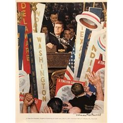 The President - Norman Rockwell Lithograph