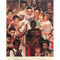 Ten Commandments - Norman Rockwell Lithograph