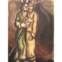 Moses - Marc Chagall Lithograph