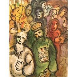 The Story Of Exodus - Marc Chagall Lithograph