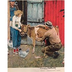 Last Days - Norman Rockwell Lithograph
