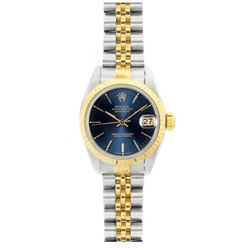 Rolex Datejust 18k Yellow Gold Navy Face