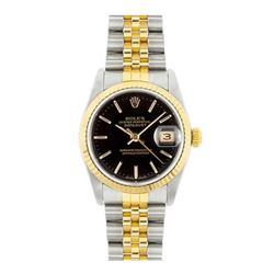 Rolex Datejust 18k yellow gold black face Men