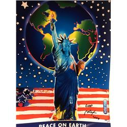 "Peter Max""Peace on Earth""Hand Signed"
