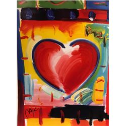 "Peter Max""Heart""Hand Signed"