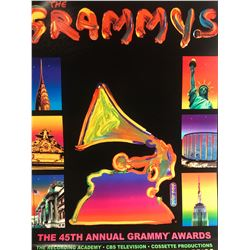 "Peter Max""The Grammys""Hand Signed"