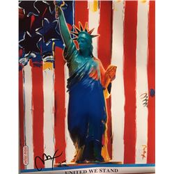 "Peter Max""United We Stand""Hand Signed"