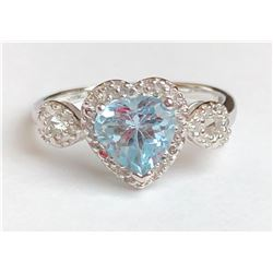 Dazzling Aquamarine Diamond Ring(cts)