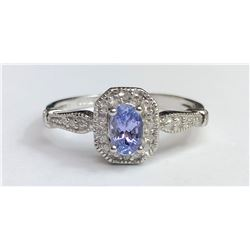 Ravishing Amethyst Diamond Ring(cts)