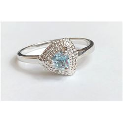 Marvelous Aquamarine Diamond Ring(cts)