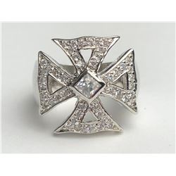 Stunning Diamond Cross Ring(cts)