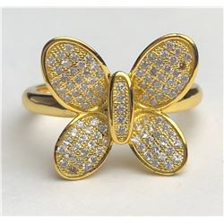 Elegant 18k Diamond Butterfly Ring(cts)
