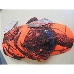 ANGLERS Hats - New Qty 5  Orange Camo w/blue/green/white stitching