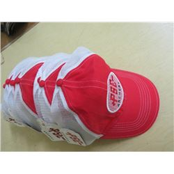 PSE Archery Hats - New Qty 8 Red + White w/red/black/white stitching