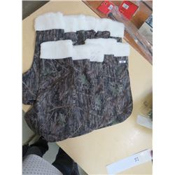 CHRISTMAS STOCKINGS - Qty 11, Green camo w/white top trim