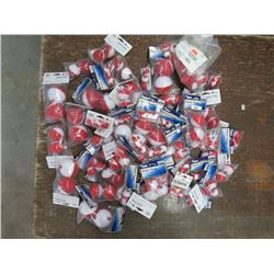 PLASTIC FLOATS, approx 42 bags, various sizes