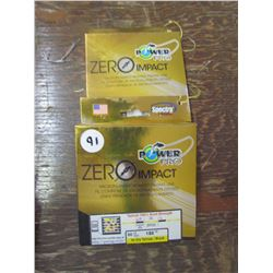 POWER PRO Zero Impact Hi Vis Yellow Black 80 lb line - Qty 2