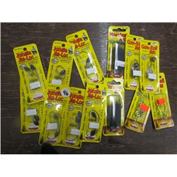 JUNGLE Jig-Loc Qty 7; Gumball II Jig Qty 2; Maribo Jig - Qty 2, Fireball Qty 1; Eyeball Jig - Qty 1